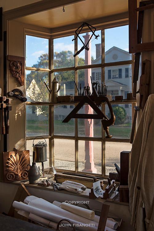 Carpenter's shop window, Williamsburg, Virginia