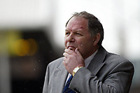 Photo: Marc Atkins.<br />Peterborough United v Wycombe Wanderers. Coca Cola League 2. 06/05/2006. Barry Fry looks thoughtfull.