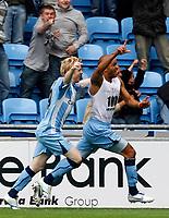 Photo: Richard Lane/Richard Lane Photography. Coventry City v Norwich City. Coca-Cola Championship. 09/08/2008. Coventry's Leon McKenzie celebrates his goal.