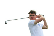 Alex Bolger (Blackrock College) on the 8th tee during the Final of the Irish Schools Senior Championship at Portstewart Golf Club, Portstewart, Co Antrim on Tuesday 23rd April 2019.<br /> Picture:  Thos Caffrey / www.golffile.ie