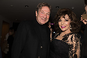 MICHAEL BRANDON; JOAN COLLINS, Bonhams host a private view for their  forthcoming auction: Jackie Collins- A Life in Chapters' Bonhams, New Bond St.  3 May 2017.