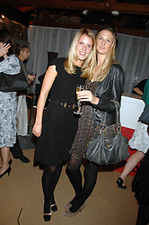 Left to right The HON.VIRGINIA FRASER daughter of Lord Strathalmond and KITTY HERVIE at a party for the Royal Marsden Hospital held at the Chelsea Gardener, Sydney Street, London on 6th May 2008.<br />