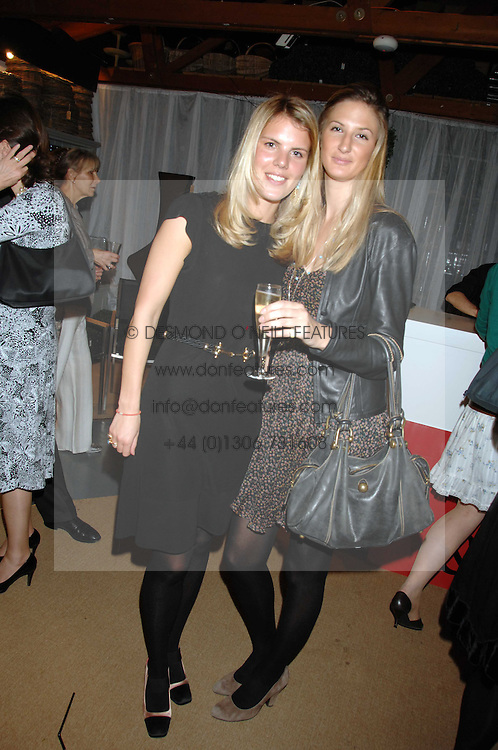 Left to right The HON.VIRGINIA FRASER daughter of Lord Strathalmond and KITTY HERVIE at a party for the Royal Marsden Hospital held at the Chelsea Gardener, Sydney Street, London on 6th May 2008.<br /><br />NON EXCLUSIVE - WORLD RIGHTS