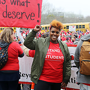 Teacher Nichole Watson.<br /><br />Thousands of educators and their supporters from all over the state gather at the Oregon State Capitol to rally for adequate school funding. A select group of teachers and staff members spoke to Gov. Kate Brown about their experiences, and shared with her the challenges of being a teacher today.<br /><br />Photography by Thomas Patterson.