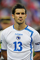 FOOTBALL - UEFA EURO 2012 - QUALIFYING - GROUP D - FRANCE v BOSNIA - 11/10/2011 - PHOTO GUY JEFFROY / DPPI - MENSUR MUJDZA (BOS)