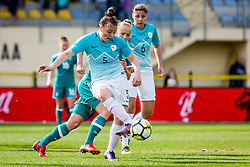 Spela Rozmaric of Slovenia during football match between Slovenia and Germany in Womans Qualifications for World Championship 2019, on April 10, 2018 in Sports park Domzale, Domzale, Slovenia. Photo by Ziga Zupan / Sportida