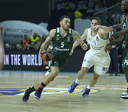 April 25, 2018 - Madrid, Madrid, Spain - ANTHONY RANDOLPH  of Panathinaikos Superfoods in action against  during the Turkish Airlines Euroleague play-off quarter final series third match between Real Madrid and Panathinaikos Superfoods at the Wizink Center in Madrid, Spain on April 25, 2018  (Credit Image: © Oscar Gonzalez/NurPhoto via ZUMA Press)