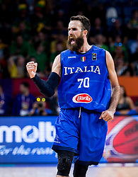 Luigi Datome of Italy reacts during basketball match between National Teams of Finland and Italy at Day 10 in Round of 16 of the FIBA EuroBasket 2017 at Sinan Erdem Dome in Istanbul, Turkey on September 9, 2017. Photo by Vid Ponikvar / Sportida