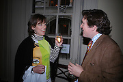 Sarah Wodehouse and  Nick Radclyffe. Book party to celebrate the publication of ' How the King of Scots Won the Throne of England in 1603 by Leanda de Lisle. St. Wilfred's Hall. Brompton Oratory. London. 9 May 2005. ONE TIME USE ONLY - DO NOT ARCHIVE  © Copyright Photograph by Dafydd Jones 66 Stockwell Park Rd. London SW9 0DA Tel 020 7733 0108 www.dafjones.com