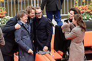 De koninklijke familie is in Zwolle voor de viering van Koningsdag. /// The royal family is in Zwolle for the celebration of King's Day.<br /> <br /> Op de foto / On the photo:  Prins Bernhard jr. en prinses Annette , Prins Maurits en prinses Marilene , Prinses Marilen en Prins Maurits , <br /> Prins Pieter Christiaan en prinses Anita , Prins Floris en Prinses Aimee
