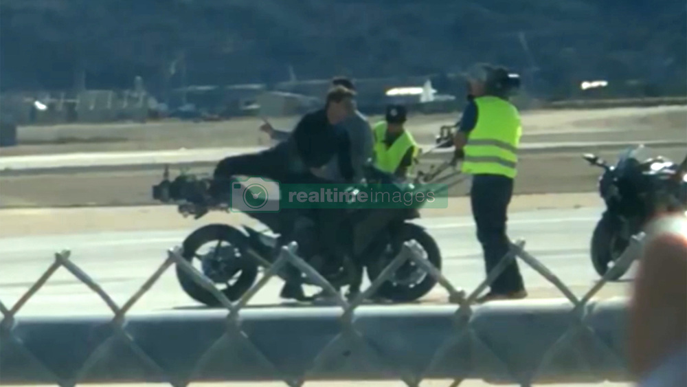 "EXCLUSIVE: ***NO USA TV. NO USA WEB*** Maverick's back ... and the need for speed is real. Tom Cruise was spotted casually riding solo on a motorcycle Wednesday afternoon on set of the ""Top Gun"" sequel -- ""Top Gun: Maverick."" Day one of filming went down at a military base in San Diego. We also got a shot of one of the fighter jets that will presumably be used in the sequel to the hit 1986 action movie. Tom himself announced filming had begun by posting a teaser image with the tagline, ""FEEL THE NEED."" Of course, the original had Cruise with costar Val Kilmer as Iceman, Anthony Edwards as Goose, Tom Skerritt as Viper and Kelly McGillis as Charlie. So far the plot of the sequel's been kept under wraps and, other than Tom, no casting's been announced. We know this ... it's still Top Gun school, so there will definitely be fighter jets -- and we're absolutely positive any Goose scenes will have to be flashbacks. That was a helluva thing. RIP Goose. Who's gonna play piano now?. 31 May 2018 Pictured: Tom Cruise. Photo credit: TMZ/MEGA TheMegaAgency.com +1 888 505 6342"