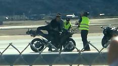 Tom Cruise Rides Motorcycle on Set as 'Top Gun 2' Filming Begins - 31 May 2018