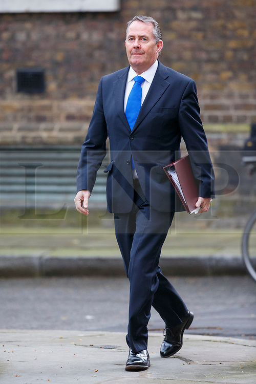 © Licensed to London News Pictures. 29/03/2017. London, UK. International Trade Secretary LIAM FOX attends a cabinet meeting in Downing Street, London on Wednesday, 29 March 2017 as Prime Minister Theresa May triggers article 50 and starts Britain's departure from the European Union. Photo credit: Tolga Akmen/LNP