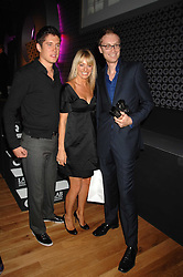Left to right, VERNON KAY, TESS DALY and comedian STEPHEN MERCHANT at the 10th annual GQ Men of the Year Awards held at the Royal Opera House, Covent Garden, London on 4th September 2007.<br /><br />NON EXCLUSIVE - WORLD RIGHTS