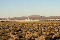 Solar panel energy farm in the Mojave Desert, California.