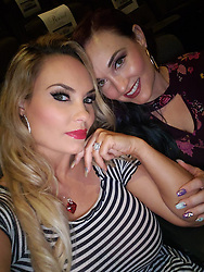 """Coco Austin releases a photo on Twitter with the following caption: """"""""At a screening for the new movie""""The First Purge( @UniversalHorror)..I&#39;m a fan of all of them! <br /> Movie rating coming soon.<br /> My sis and I had to take a selfie while we wait. Were so excited!😃<br /> .. .Horror movie addicts right here"""""""". Photo Credit: Twitter *** No USA Distribution *** For Editorial Use Only *** Not to be Published in Books or Photo Books ***  Please note: Fees charged by the agency are for the agency's services only, and do not, nor are they intended to, convey to the user any ownership of Copyright or License in the material. The agency does not claim any ownership including but not limited to Copyright or License in the attached material. By publishing this material you expressly agree to indemnify and to hold the agency and its directors, shareholders and employees harmless from any loss, claims, damages, demands, expenses (including legal fees), or any causes of action or allegation against the agency arising out of or connected in any way with publication of the material."""