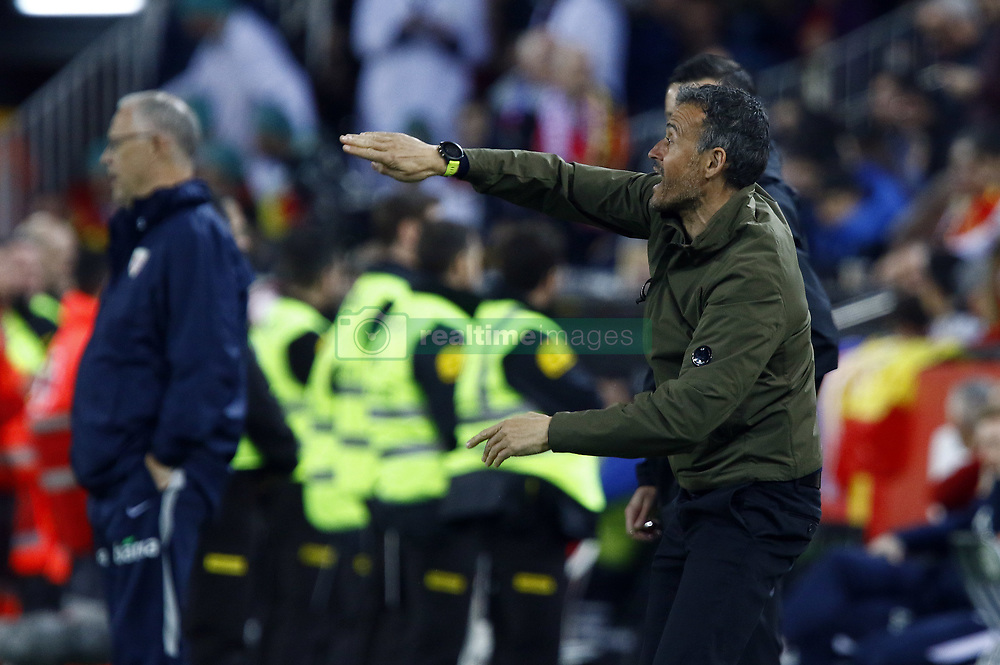 March 23, 2019 - Valencia, Community of Valencia, Spain - Spain's coach Luis Enrique seen in action during the Qualifiers - Group B to Euro 2020 football match between Spain and Norway in Valencia, Spain. Spain beat Norway, 2-1 (Credit Image: © Manu Reino/SOPA Images via ZUMA Wire)