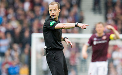 Referee William Collum during the William Hill Scottish Cup Final at Hampden Park, Glasgow.