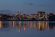 Portland, Oregon with the Willamette River in the foreground. © Michael Durham / www.DurmPhoto.com