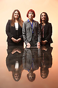 SHOT 12/4/19 11:31:35 AM - McGuane & Hogan, P.C., a Colorado family law firm located in Denver, Co. Includes attorneys Kathleen Ann Hogan, Halleh T. Omidi and Katie P. Ahles. (Photo by Marc Piscotty / © 2019)