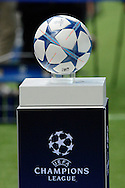 Championsl league ball during the Champions League Group D match between Manchester City and Sevilla at the Etihad Stadium, Manchester, England on 21 October 2015. Photo by Alan Franklin.