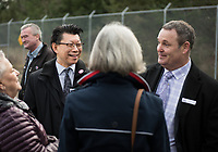 The Belmont Residences ground breaking celebration brought local policiticians, developers and financiers to the site in Langford, BC.