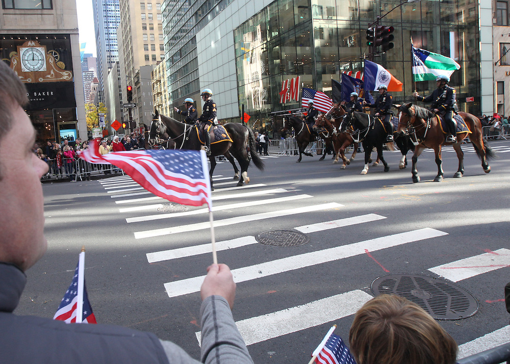 Members and supporters of the U.S. Armed services came to celebrate their sacrifices during the Veterans Day Parade in Manhattan on Friday, November 11, 2016.(Credit: Byron Smith)