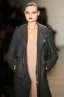 Magdalena Frackowiak walks the runway wearing Altuzarra Fall 2011 Collection during Mercedes-Benz Fashion Week in New York on February 12, 2011
