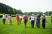 April 29, 2017, 22nd annual Queen's Cup Steeplechase. The jockey course walk with Willie McCarthy