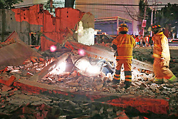 September 8, 2017 - Mexico City, Mexico - A fence collapses on a car after an 8.1 earthquake hit southern Mexico. (Credit Image: © El Universal via ZUMA Wire)