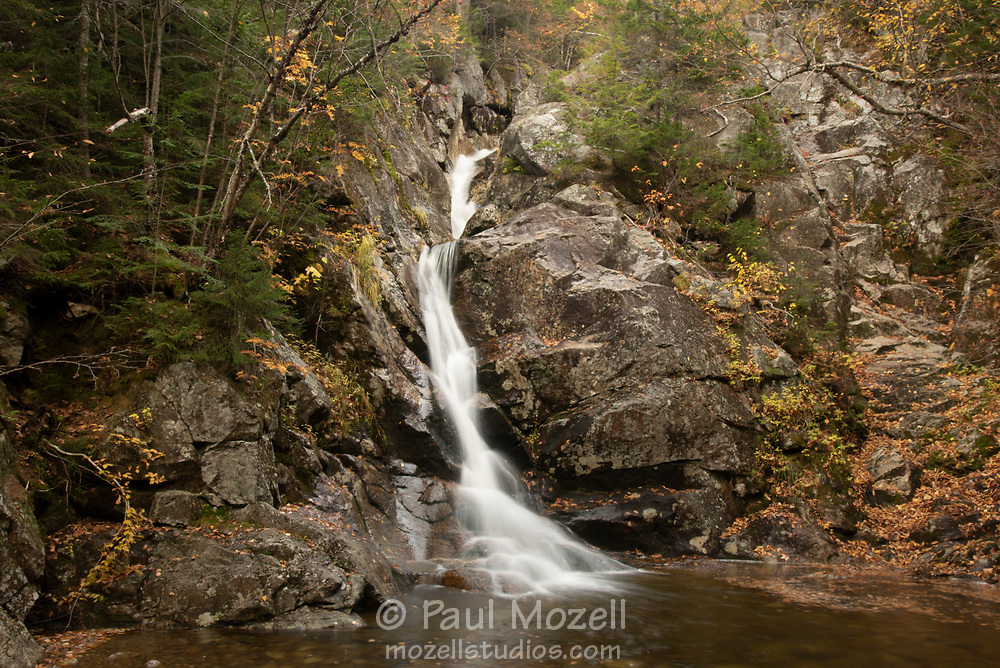 Gibbs Brook Falls tumbles from The Presidential Range to Crawford Notch in The White Mountain National Forest, NH