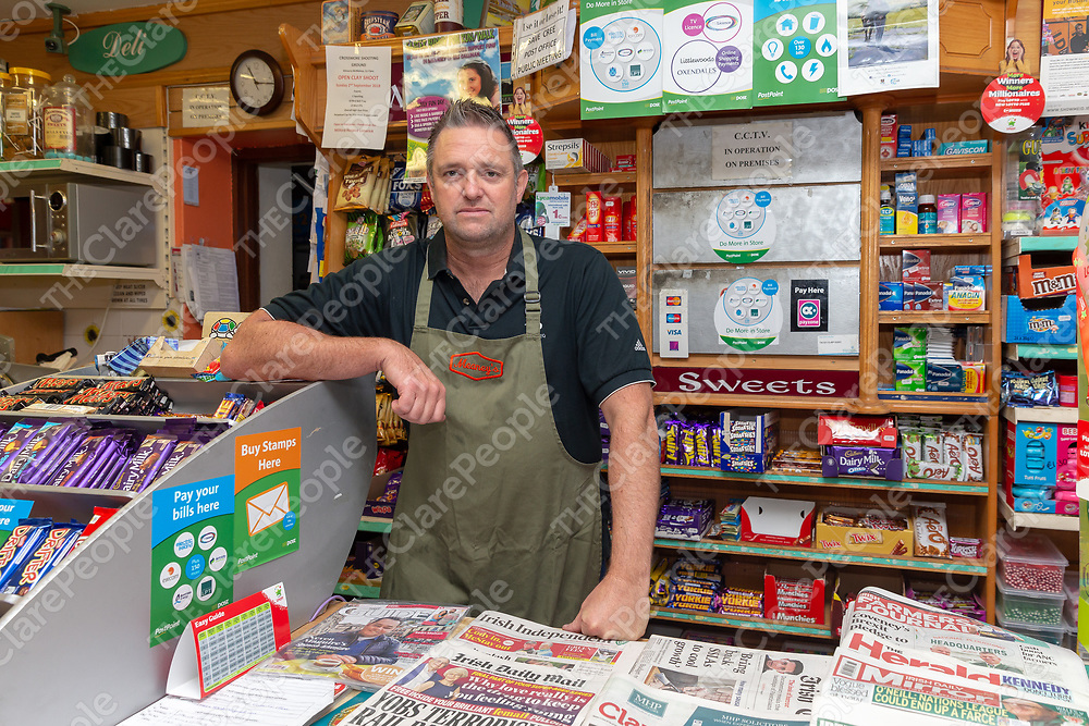 Declan Meaney, shop owner from Cree, who is campaigning to take over the Post Office in Cree