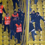 Besiktas's supporters during their Turkish superleague soccer derby match Fenerbahce between Besiktas at Sukru Saracaoglu stadium in Istanbul Turkey on Sunday 05 February 2012. Photo by TURKPIX