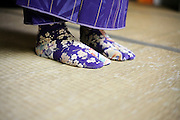 flower fabric tabi Japanse traditional style socks