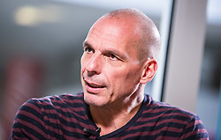 April 27, 2019 - Munich, Bavaria, Germany - Former Greek Finance Minister and famed economist YANIS VAROUFAKIS visited Munich, Germany while on tour for his DiEM Democracy in Europe Movement.  The DiEM group is currently campaigning for the European Elections, set to take place from 23-26 May.  Among the many themes tackled by Varoufakis, he discussed Brexit, strategies to combat populism, and future challenges of the Eurozone..Varoufakis was the Finance Minister of Greece in 2015 and stepped down after failing to reach a deal with the Troika on the country's bailout program.  In 2016, he and Srećko Horvat founded DiEM25 in an effort to create a pan-European party to combat the rise of individual, increasingly nationalist and populist parties in Europe.  The group has numerous celebrities among its ranks including Noam Chomsky, Pamela Anderson, and Brian Eno.  It's current membership stands at 97,000. (Credit Image: © Sachelle Babbar/ZUMA Wire)