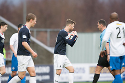 Falkirk's Rory Loy takes the ball for the penalty.<br /> Falkirk 1 v 1 Morton, Scottish Championship game today at The Falkirk Stadium.<br /> © Michael Schofield.