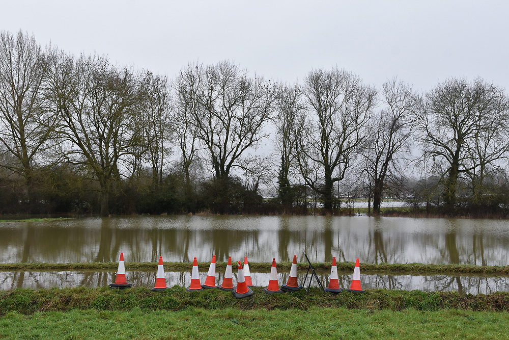 Flooding near Cookham after the Thames bursts its banks in and together with ground water floods the village, causing road closures.