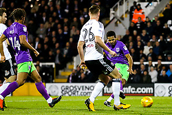 Korey Smith of Bristol City scores a goal to make it 0-2 - Rogan/JMP - 31/10/2017 - Craven Cottage - London, England - Fulham FC v Bristol City - Sky Bet Championship.
