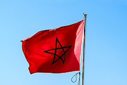 The Moroccan flag<br /> <br /> (c) Andrew Wilson | Edinburgh Elite media