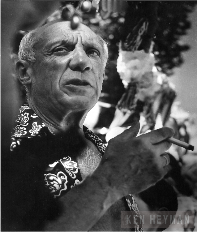 Picasso at a bullfight in southern France.