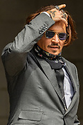 American actor Johnny Depp arrives at the High Court in London on Thursday, July 23, 2020 - to attend the hearing of his legal dispute with UK tabloid newspaper The Sun over allegations he assaulted his former wife Amber Heard. (VXP Photo/ Vudi Xhymshiti)