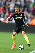 Aleksandar Kolarov of Manchester city in action. Premier league match, Swansea city v Manchester city at the Liberty Stadium in Swansea, South Wales on Saturday 24th September 2016.<br /> pic by Andrew Orchard, Andrew Orchard sports photography.