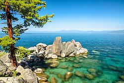 """""""Boulders at Lake Tahoe 55"""" - Photograph of boulders just north of Secret Cove, Lake Tahoe."""