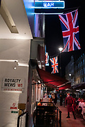 As Prime Minister Boris Johnson announces a second Coronavirus nationwide lockdown during the second wave of the pandemic, party-goers and nightlife revellers celebrate Halloween in Soho, on 31st October 2020, in London, England. Small business such as bars and restaurants will again have to close except for takeaways from Thursday, and for a period of one month.