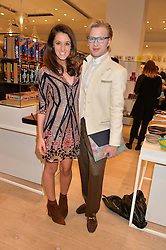 ROSANNA FALCONER and HENRY CONWAY at the launch of the Conran Shop at Selfridge's, Oxford Street, London on 22nd September 2015.