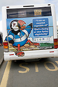 Bus running on recycled vegetable oil Pembrokeshire Wales