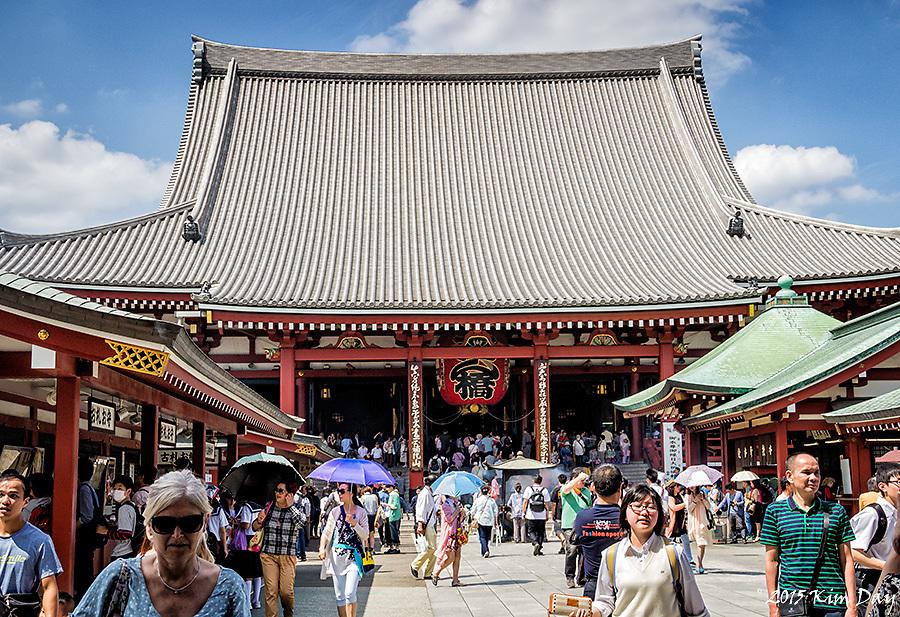 Main Building at Senso-ji Shrine<br /> Asakusa, Toyko, Japan<br /> May 2015