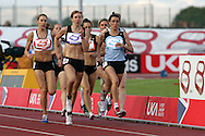 Super 8 athletics at the Cardiff International Stadium on Wed 10th June 2009. action from the Women's 800m race.