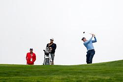 June 12, 2019 - Pebble Beach, CA, U.S. - PEBBLE BEACH, CA - JUNE 12: PGA golfer Matt Kuchar plays the 9th hole during a practice round for the 2019 US Open on June 12, 2019, at Pebble Beach Golf Links in Pebble Beach, CA. (Photo by Brian Spurlock/Icon Sportswire) (Credit Image: © Brian Spurlock/Icon SMI via ZUMA Press)
