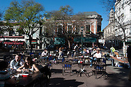 A sunny afternoon in Plaza Dorrego in San Telmo